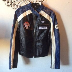 Wilson's Leather Jacket Motorcycle Gas Station